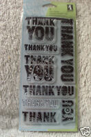 Inkadinkado Clear Stamps Patterned Thank You Set New Scrapbook