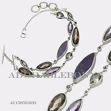 Authentic Lori Bonn Sterling Silver Pizzazz Chain Link Bracelet 411505DRB