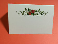 WEDDING place cards10 two red roses handmade tent style food labels menu table