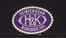 401793/ Siegelmarke - Heintz & Kühn - MANEBACH Thür.