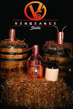 5 Gallon Copper Whiskey Moonshine Still full Kit with worm and thumper