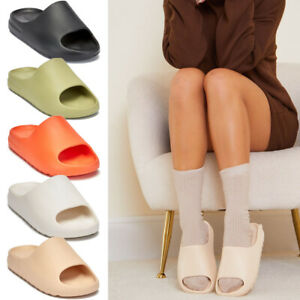 Ladies Ultra Soft Sliders Slip On Mules Summer Sandals Women Beach Slipper Shoes