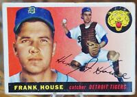 1955 Topps Baseball Card #87 Frank House, Detroit Tigers - VG