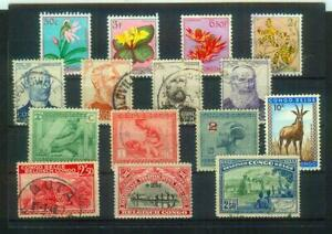 Lot Briefmarken aus der Kolonie Belgisch Kongo