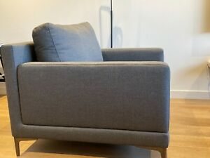 Large Sofa arm Chair. Hardly used & new condition. Dark grey fabric. Good size