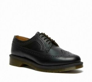 Dr Martens 3989 Black Smooth Leather Brogue Shoes