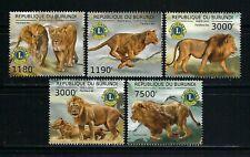 Burundi 2012 Sc#1195a-d,#1220 Lions/Lions Club Emblem  MNH Set $20.80
