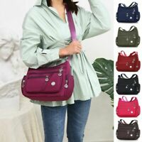 Women Tote Messenger Cross Body zip Handbag Ladies Shoulder Bag Purse Waterproof