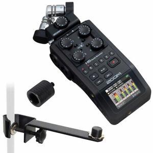 Zoom H6 Recorder Dictaphone+Keepdrum Mikrofon-Halteschiene+ Sa Adapter