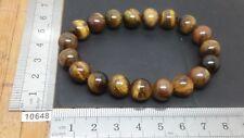 Bracelet OEIL DE TIGRE perles 10 mm mineraux lithotherapie pierre bijou original