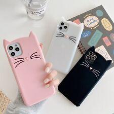 For Samsung Classic Beard Cat Cute Cartoon Hot Fashion Silicone Phone Case Cover