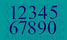 Stencil 2 Inch Times New Roman Numbers Stencil Set