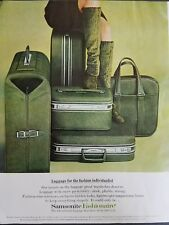 1957 Samsonite fashion are Green Luggage for fashion individualist vintage ad