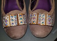 Poetic Licence Shoes with Tanzanite color Rhinestones on top Size 9 / 39.5 EUC