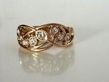 Damen Ring 750 Gold 18 Karat vergoldet  gelbgold LUXUS R2621L