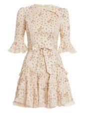 Zimmermann Freja Trim Flutter Dress Size 0