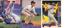 Wade Boggs lot of 3 different NY Yankees Baseball Cards Hall of Fame HOF