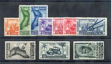 ITALIAN COLONIES Sc 32-41,C20-7(MI 53-70)*F-VF LH 1933 MARCH OF FASCISM SET $525