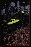 Foo Fighters UFO vinyl sticker 130mm x 95mm (cv)