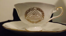 INCO Quarter Century Club Queen's China Cup and Saucer. Mint Condition. RARE.