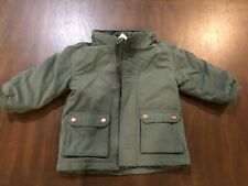 H&M Baby girl parka / baby girl winter clothes 9-12months / Dark Green Parka
