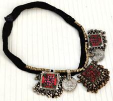 Handmade Vintage Afghan Old Boho Thread Banjara Tribal Gypsy Coin Necklace