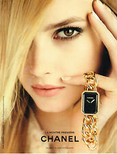 PUBLICITE ADVERTISING 094  2013  CHANEL  collection montres PREMIERE