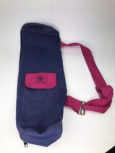 GAIAM YOGA MAT SHOULDER BAG - Zipper Canvas Purple a1o