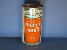 Two Guys Orange Flat Top Soda Can