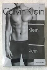 Calvin Klein Microfiber  3-Boxer Briefs Small 28-30  Black  NP2033 -- 8387