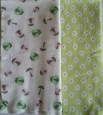 New listing Lot of 2 Cotton Flannel Receiving Baby Blankets Gerber Circo Ladybugs Flowers