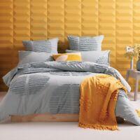 KAS Barlow Cotton Quilt Cover Set Seafoam