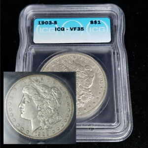 1903 S United States Morgan Silver $1 Dollar ICG VF 35 Better Date Coin DX1806