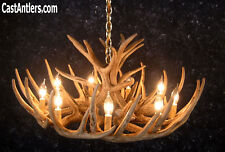 Living room antler chandeliers ebay cast whitetail cascade 12 antler chandelier rustic cabin lighting made in usa aloadofball Choice Image