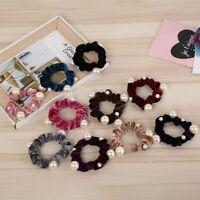 Women&Velvet Pearl Elastic Hair Rope Scrunchies Girls Hair Ties Hair Accessories