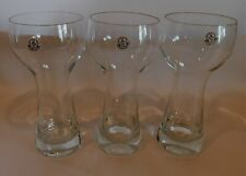 Set of 3 Vintage KASTRUP (HOLMEGAARD) DENMARK Beer Glasses w/ Orig PAPER LABELS