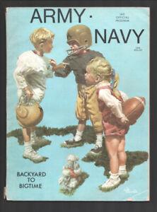 Army vs Navy NCAA Football Game Program 11/27/1971-Cover art by Gib Crockett-...