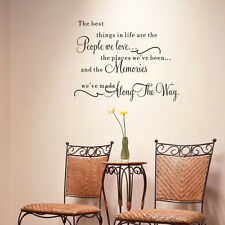 Removable Quote Word Decal Vinyl DIY Home Room Decor Art Bedroom Wall Stickers