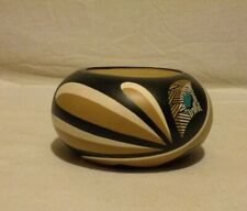 Native American Hopi Toad Pottery Pot Signed Gax