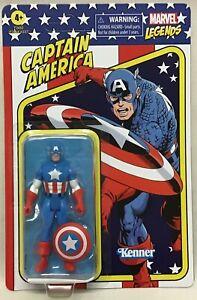"Marvel Legends Retro 375 Collection Captain America 3 3/4"" New Hasbro 2021"