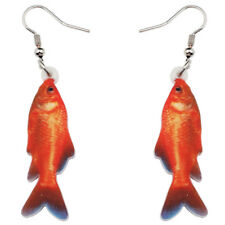 Acrylic Novelty Ocean Gold Fish Earring Drop Dangle For Women Girl Charm Jewelry
