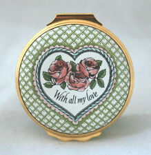 Halcyon Days Enamels 1984 St. Valentine's Day With All My Love Jewelry Box