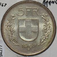 Switzerland 1967 5 Francs 294277 combine shipping