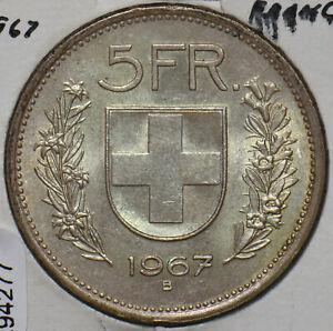 Switzerland 1967 5 Francs 294277 combine