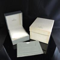 OMEGA WATCH BOX CASE BOOKLET GREY 100%Authentic FZ6195 YN1