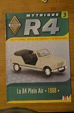 Fascicule mythique R4, la R4 Plein-air, 1968, n°3, M6 éditions, excellent état