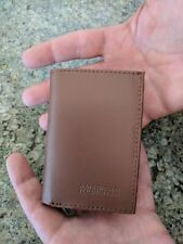 LEATHER WALLET TRI FOLD Trifold Men's Gift Pocket Brown American Tourister Cards