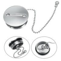 🔥 Boat Deck Fill Filler Replacement Cap & Chain Stainless Steel Fuel Water