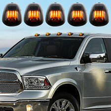 5x 12 LED Smoked Cab Roof Marker Lights Amber For 03-16 Dodge Ram 2500 3500 4500
