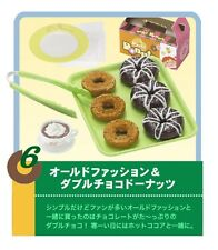 Re-ment dollhouse miniature double chocolate traditional donuts hot chocolate